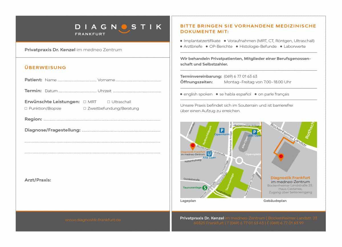 Radiologische Privatpraxis Dr. Kenzel Frankfurt | Download Patientenkarte