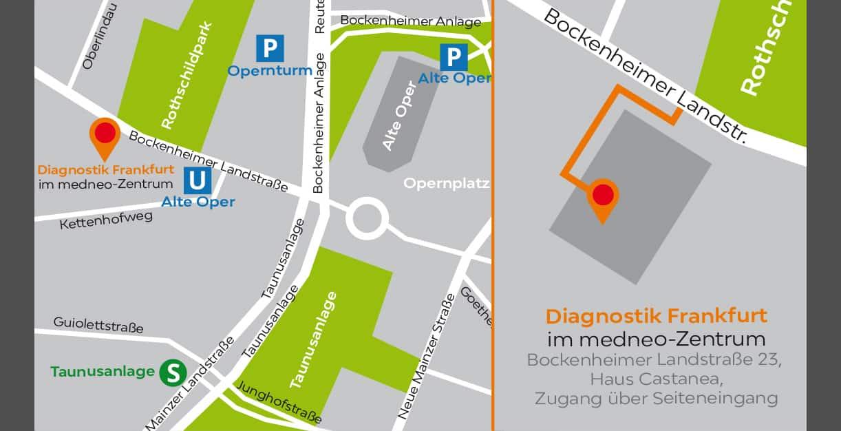 Radiologische Privatpraxis Dr. Kenzel Frankfurt | Lageplan